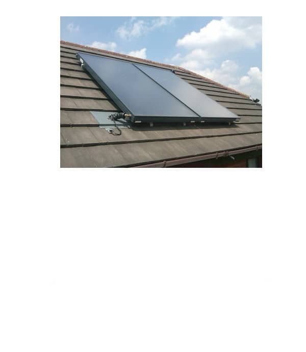 on roof solar collectors