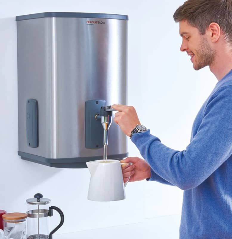 Wall mounted instant hot water dispensers